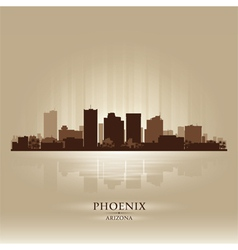 Phoenix Arizona skyline city silhouette vector image