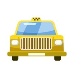 Taxi car icon in cartoon style vector image vector image