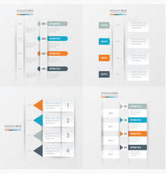 Timeline design 4 item orange blue gray color vector