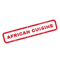 African Cuisine Text Rubber Stamp vector image vector image