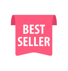 best seller label isolated on white red color vector image