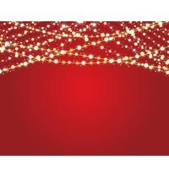 burning light bulbs vector image