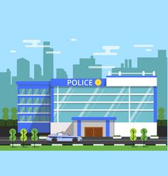 police or security department exterior of vector image vector image
