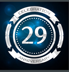 twenty nine years anniversary celebration with vector image vector image