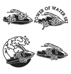 vintage jet ski emblems vector image
