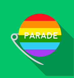 gay parade icon flat single gay icon from the big vector image