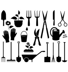 Isolated garden tools vector