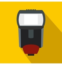 Lighting flash for camera icon flat style vector