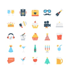 Party and Celebration Icons 1 vector image vector image