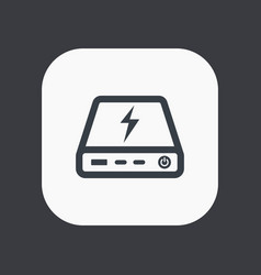 power bank icon portable charging device vector image