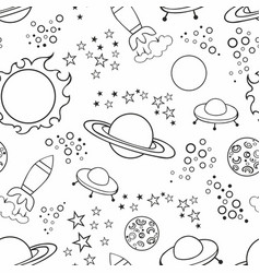 Seamless white background with stars and vector