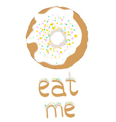sweet donut vector image vector image