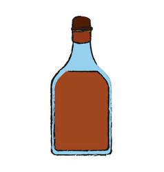 whisky glass bottle vector image vector image