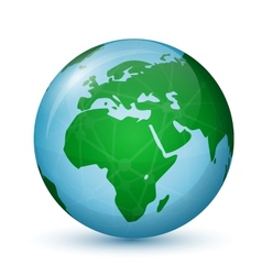 World Globe Map - Africa Europe vector image