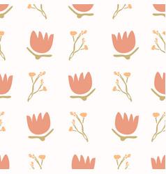 1970s retro daisy blossom motif background naive vector