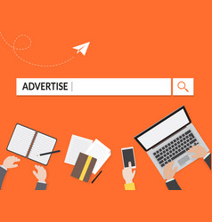 Advertise search graphic for business vector