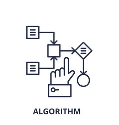 algorithm line icon concept algorithm vector image