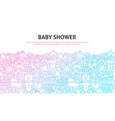 Baby shower concept vector