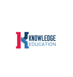 badge for knowladge or education vector image
