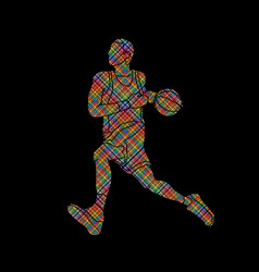 basketball player running vector image