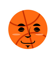 Basketball sleep emoji ball sleeping emotion vector