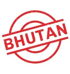 Bhutan rubber stamp vector