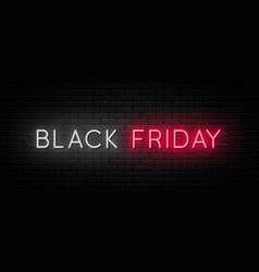 black friday sale black friday neon sign on brick vector image