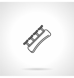 Black line icon for finger gripper vector