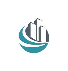 Building cityscape abstract company logo vector