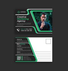 Business invitation postcards designs templates vector