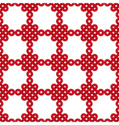 Chinese knot seamless pattern vector