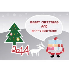 Christmas greeting card45 vector image