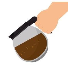 Coffee pot drink vector