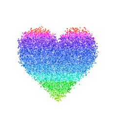 colorful glitter heart vector image