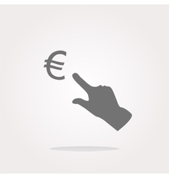 Currency exchange icons euro money sign and vector image