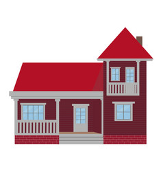 cute cartoon of a residential vector image