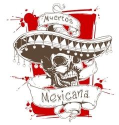 Dead mexican vector