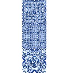 Decorative color ceramic azulejo tiles vector