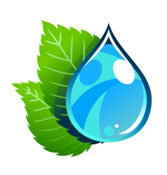 Eco water vector image