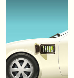 electric car on small aa batteries vector image