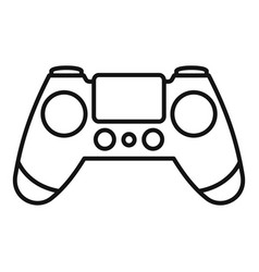 entertainment gamepad icon outline style vector image