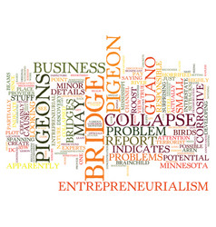 Entrepreneurialism and pigeon guano text vector
