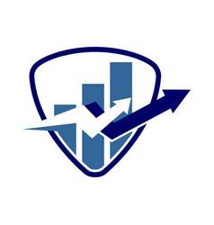 financial accounting consulting shield logo vector image