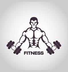 Fitness logo icon design vector