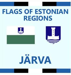 Flag of estonian region jarva vector