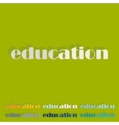 Flat design education vector