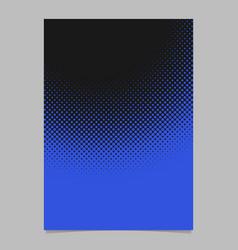 geometric abstract halftone dot pattern brochure vector image