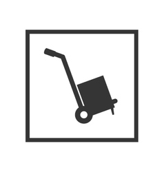 Hand cart sign vector