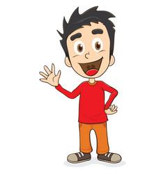 happy kid vector image