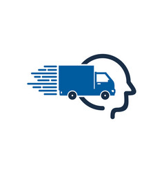 head delivery logo icon design vector image